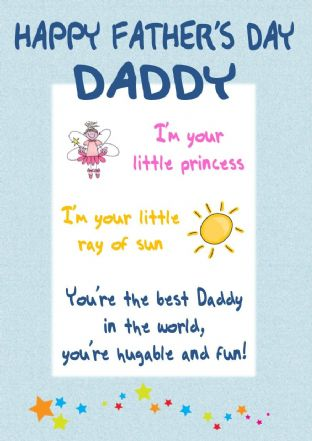 Little Princess Father's Day Card